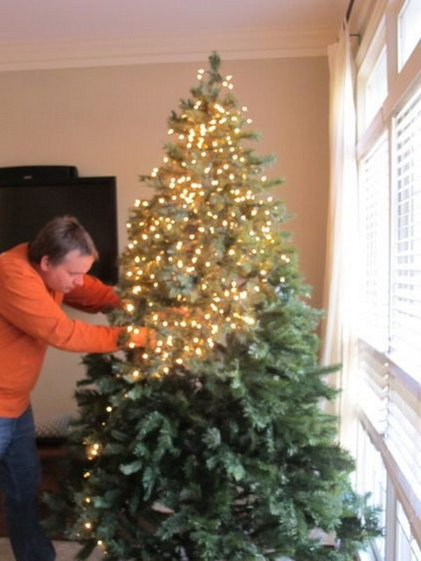 How to String the Lights on the Tree Tutorial