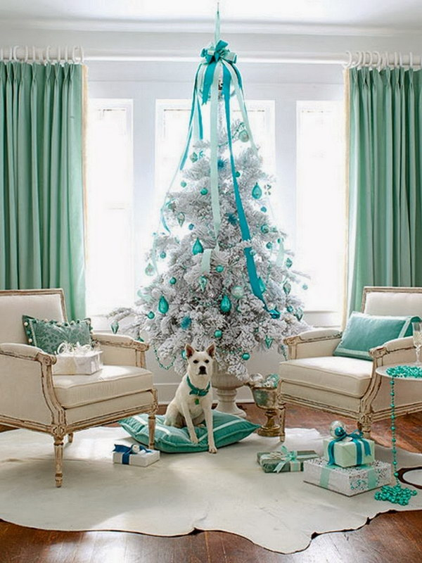 White and Turquoise Tree
