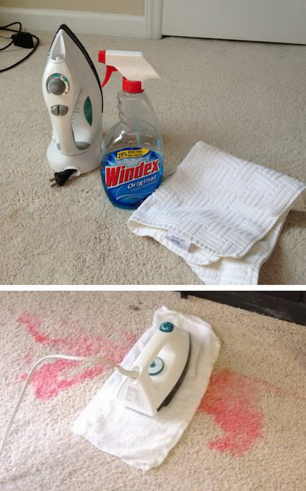 Creative Way to Iron Out Carpet Stains.