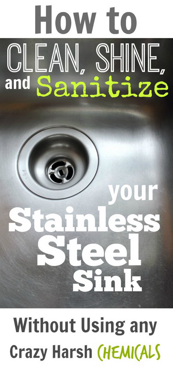 How to Clean Your Stainless Steel Sink.