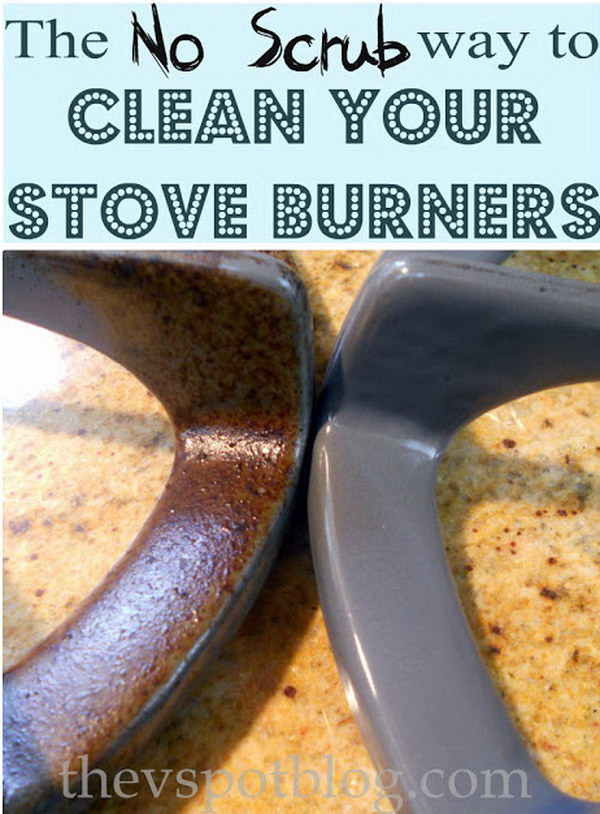 NO SCRUB Way to Clean Your Stove Burners.