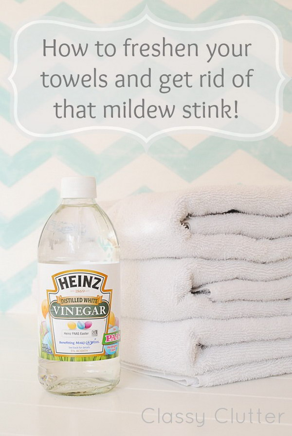 How to Freshen Your Towels and Get Rid of That Mildew Stink.
