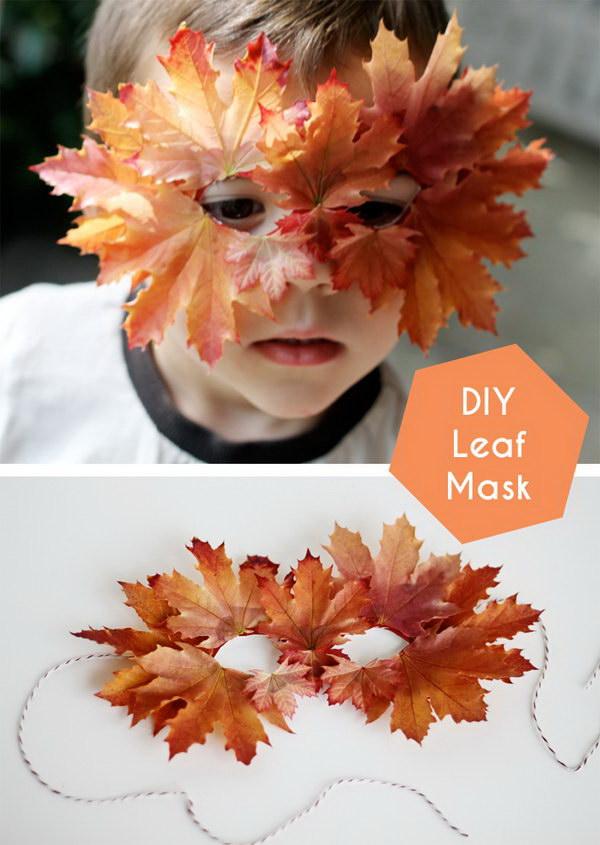 DIY Fall Leaf Mask.