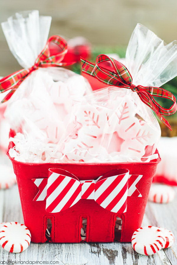 DIY Peppermint Soap Gift Idea.