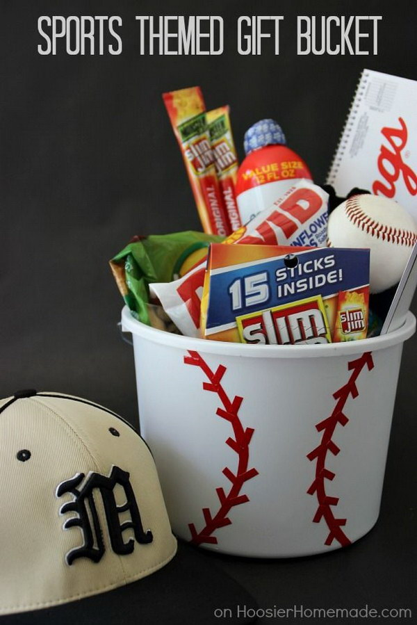 Sports Themed Gift Bucket.