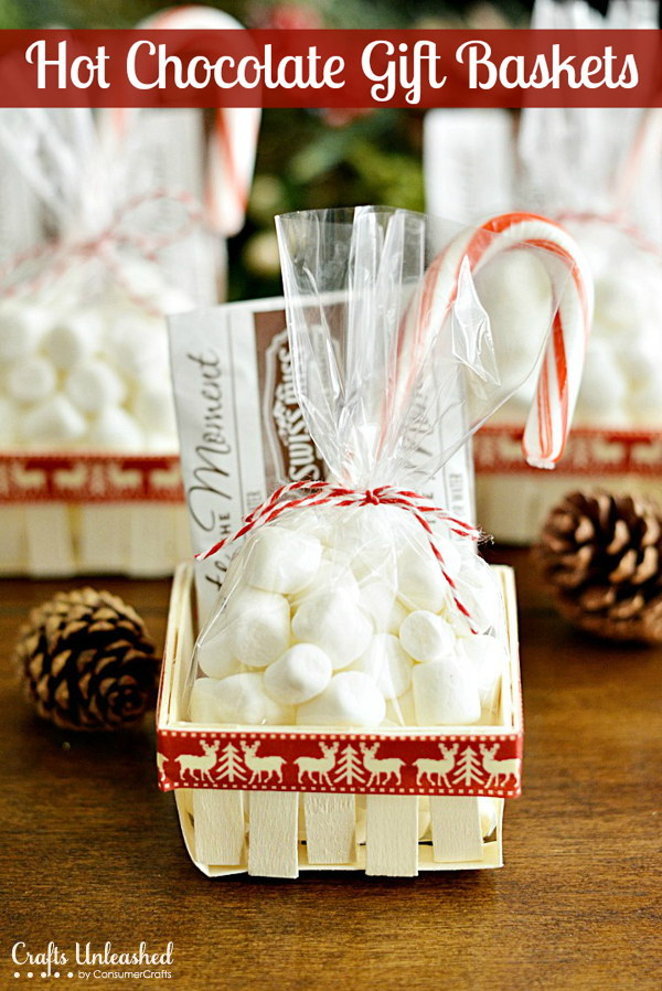 Hot Chocolate Gift Baskets: Handmade Gift Challenge.