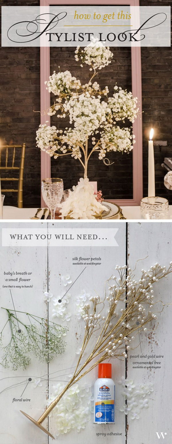 DIY Gorgeous Wedding Centerpiece.