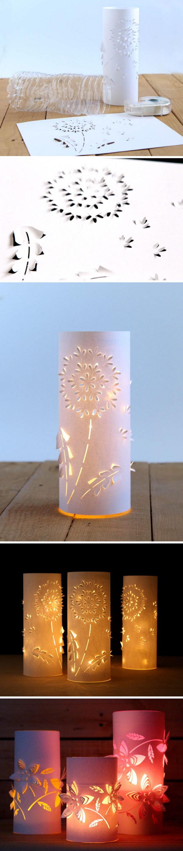 DIY Dandelion Paper Lanterns.