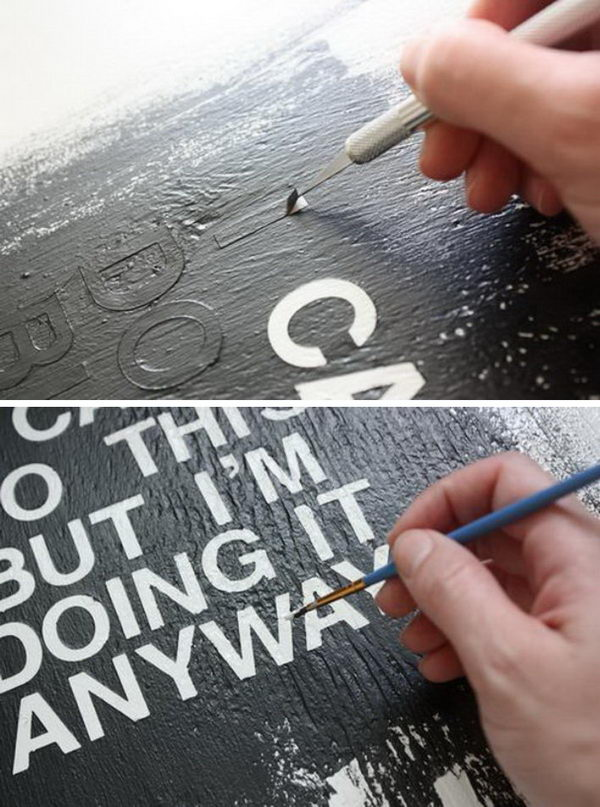 DIY Text Art.