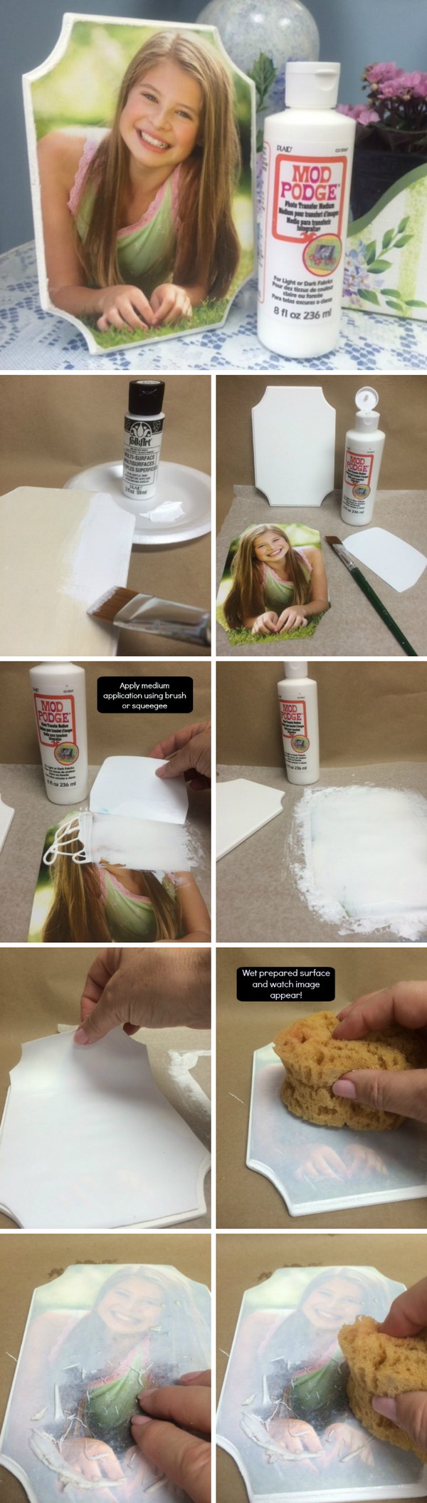Use Mod Podge Photo Transfer Medium to Create a DIY Project.