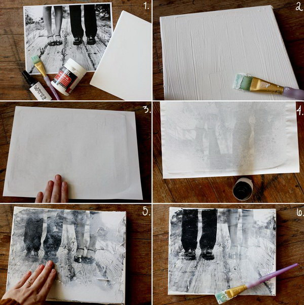 Transfer Your Photos and Make Your Own Canvas Portrait.