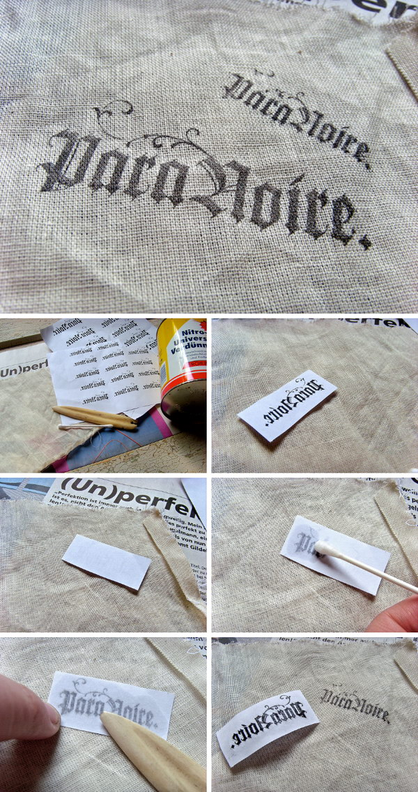 How To Transfer A Picture Onto Almost Any Surface Using Paint Thinner.