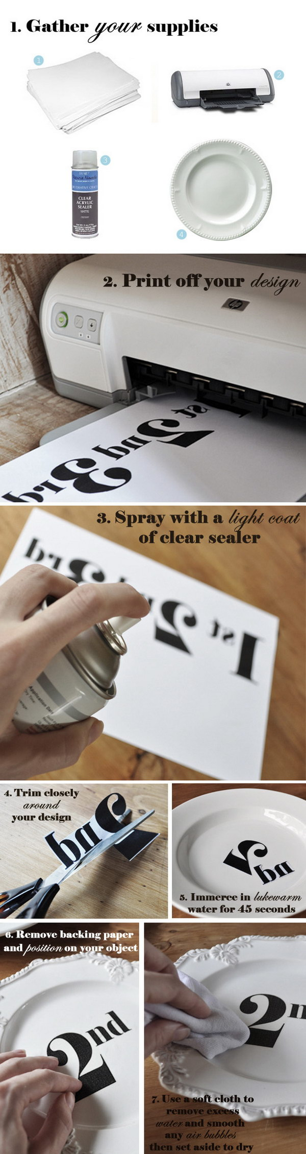 DIY Decal Transfer Tutorial With Waterslide Decal Paper.