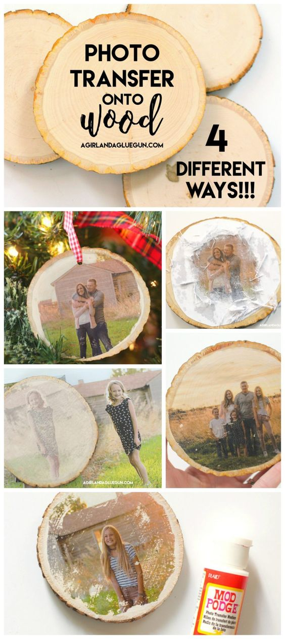 How to transfer photos on wood  4 different ways.