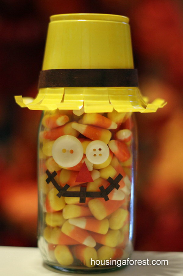 Candy Corn Scarecrow.