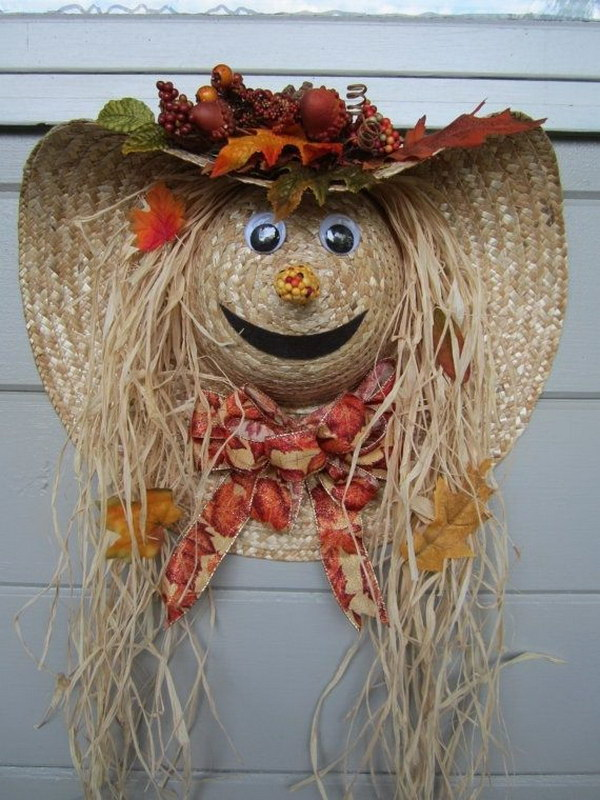 Scarecrow Door Wreath.
