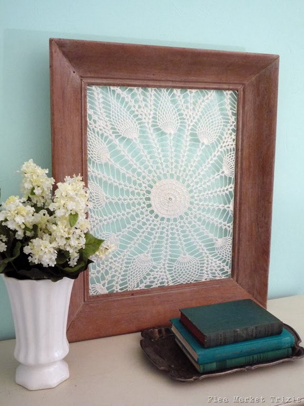 Repurposed Vintage Doilies and Frames. Get the tutorial