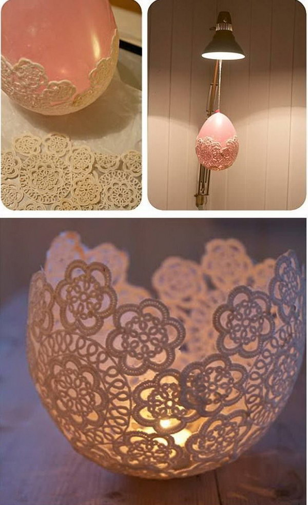 25 Beautiful Diy Fabric And Paper Doily Crafts 2017