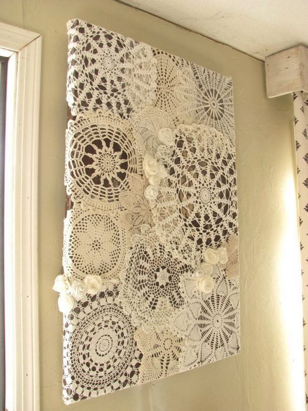 25 beautiful diy fabric and paper doily crafts 2017 Crochet home decor pinterest