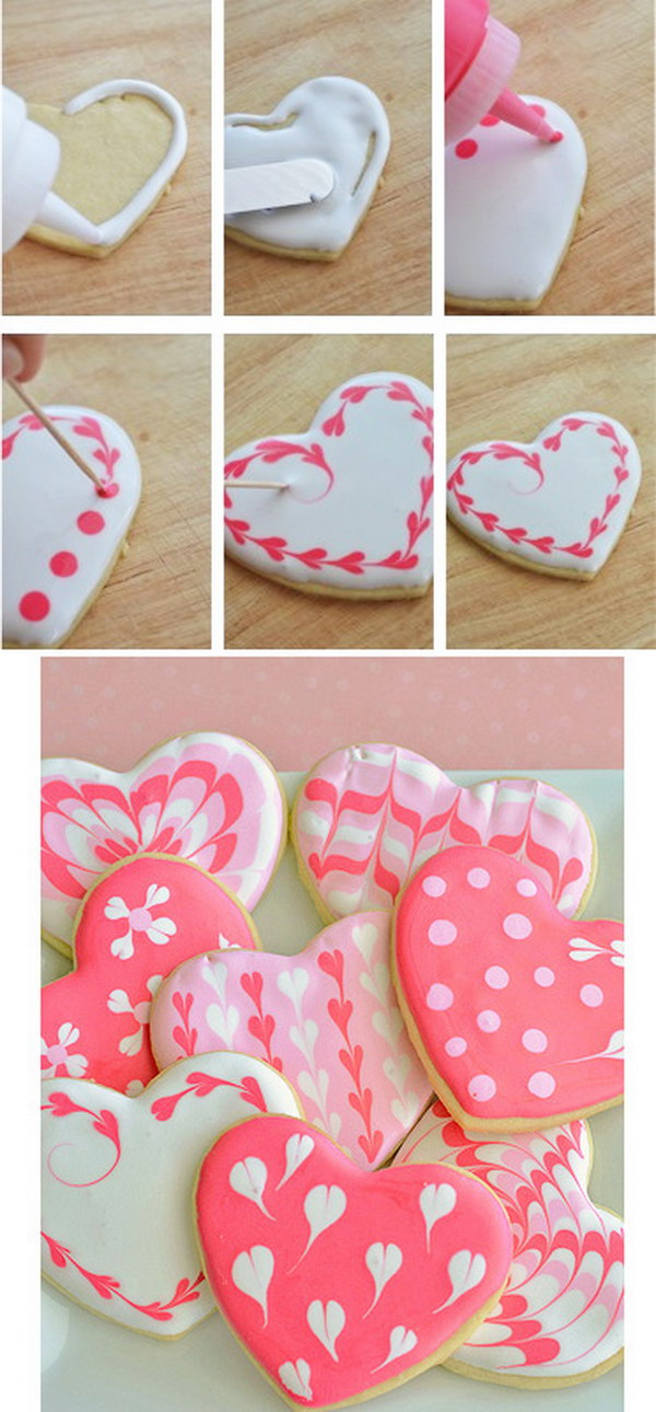 Marbled Cookie Hearts.
