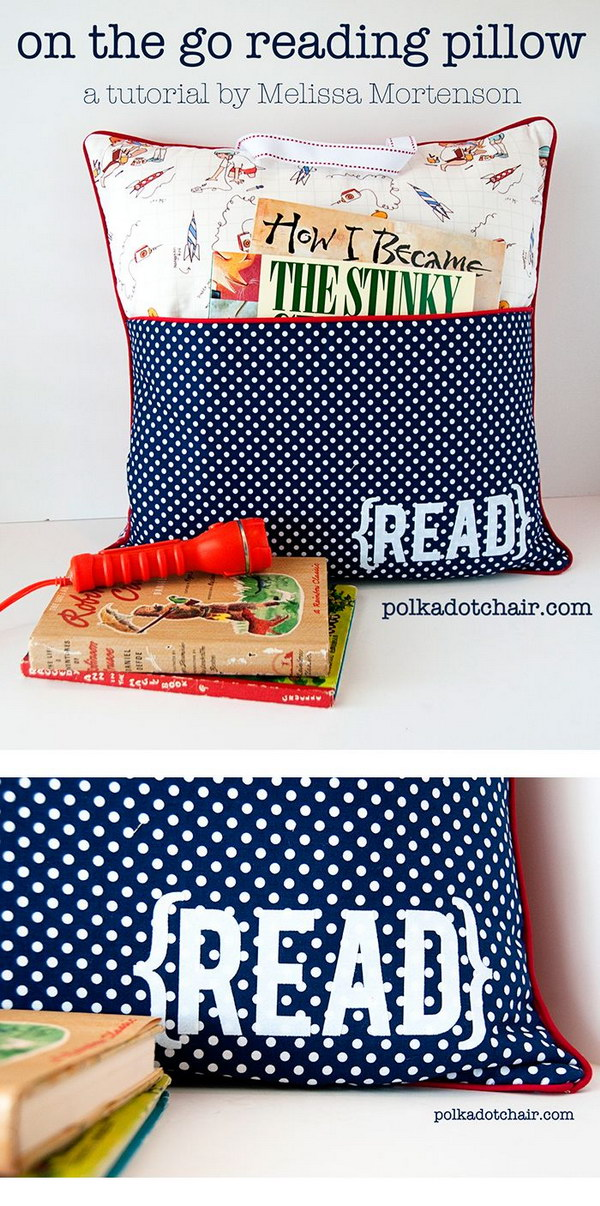 On the Go Reading Pillow. This Pillow is a special gift for people who love staying up late to read at night.