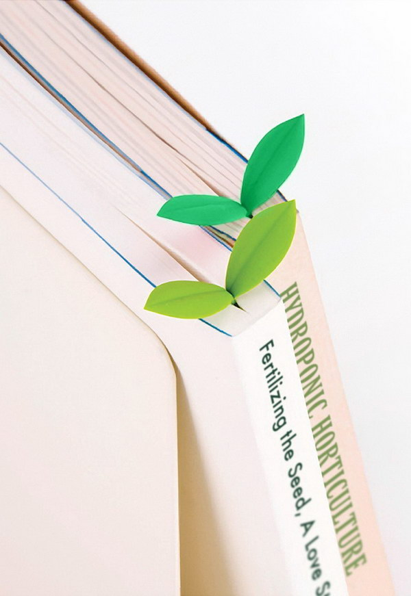 Little Green Bookmarks. These sprouting seedlings shaped bookmarks are made from soft, flexible silicone. These would make excellent gifts for any book lovers in your life.