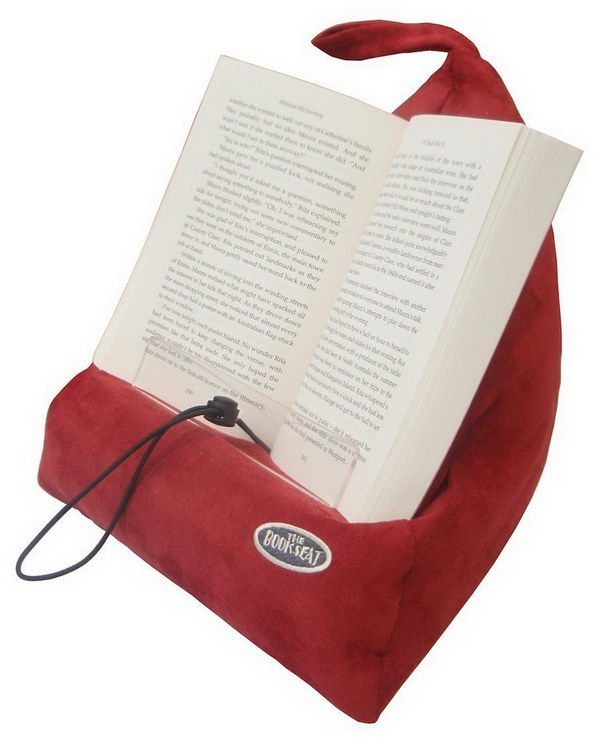 Book Holder and Travel Pillow. This book seat makes reading in bed or a chair much more comfortable and pleasurable. Great gift idea for book lovers!