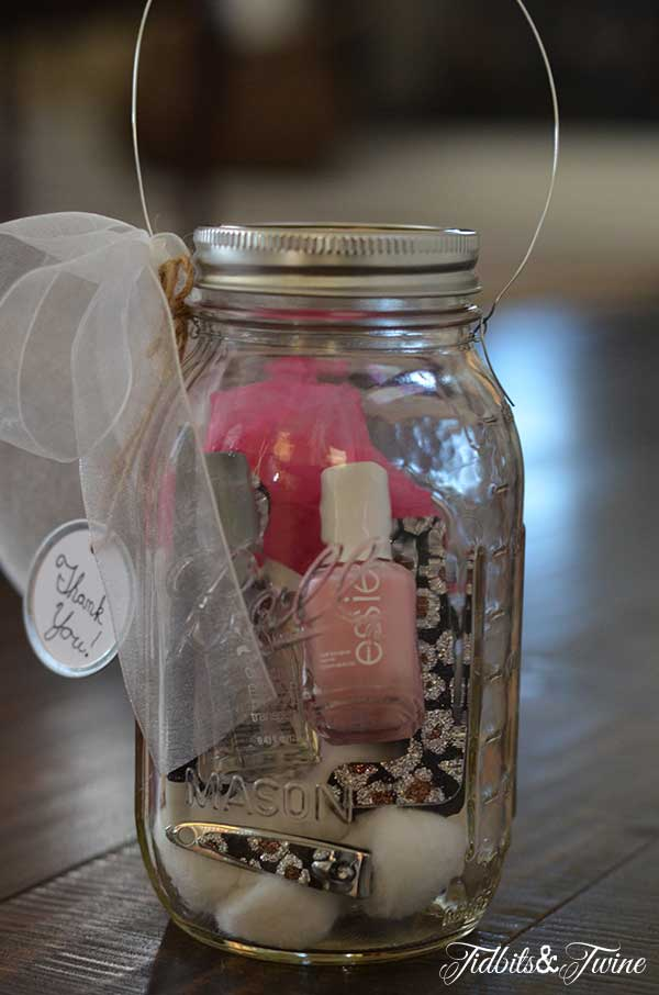 DIY Mason Jar Manicure Kit.