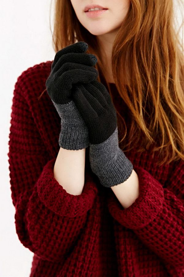 Stretchy Knit Texting Gloves for Teen Girls.