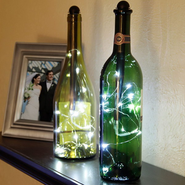 Fairy String Bottle Lighting Accessory. Very cool and easy to use. These would make a really cute gift for someone who loves wine or has a lot of parties!