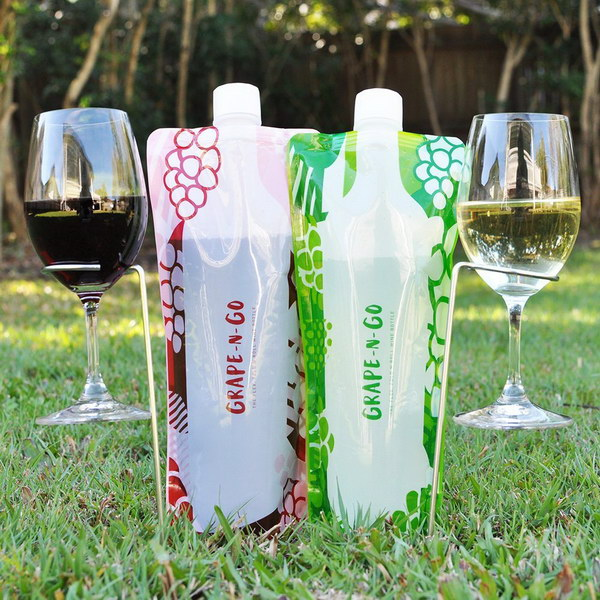 Flexible and Foldable Wine Bottles. These bottles are going to make a great gift for lovers of wine, travel, and the great outdoors. They are so well made and simple but do a great job keeping wine preserved in a portable way.