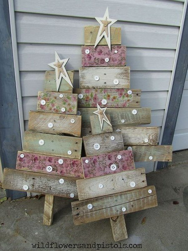 Pallet Wood Christmas Trees.