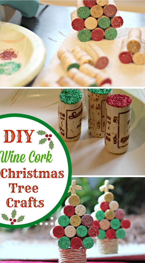 Wine Cork Christmas Tree Craft.