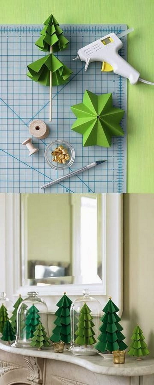 DIY Paper Pine Trees.