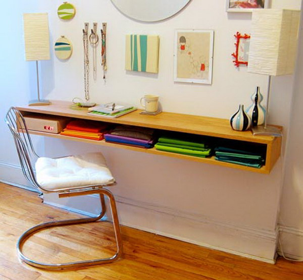 diy project minimalist hanging oak desk this stunning hanging desk is a great space