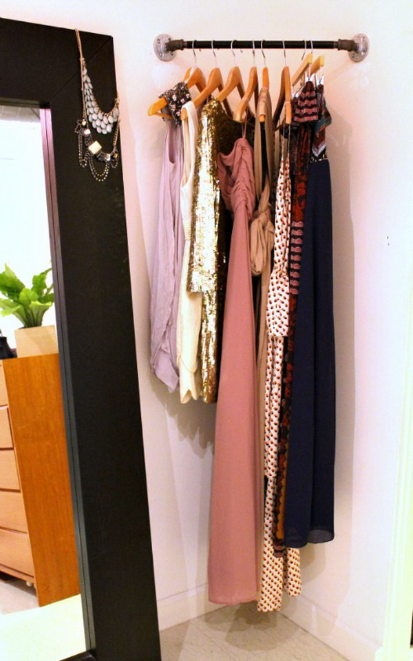 DIY Corner Closet. Use every corner of space in your home!