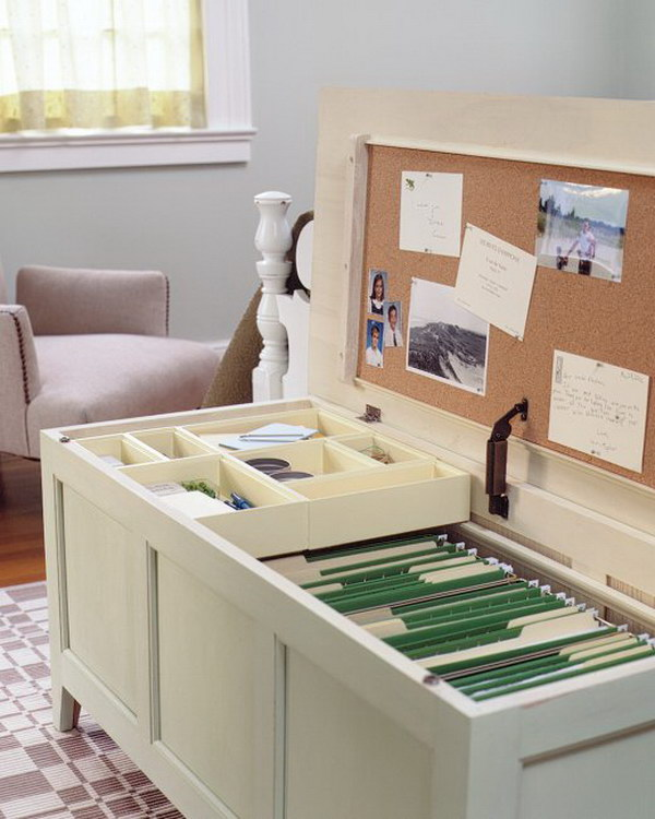 Mini Office Chest. This mini office chest is perfect for storing your files and little office goodies in small spaces.