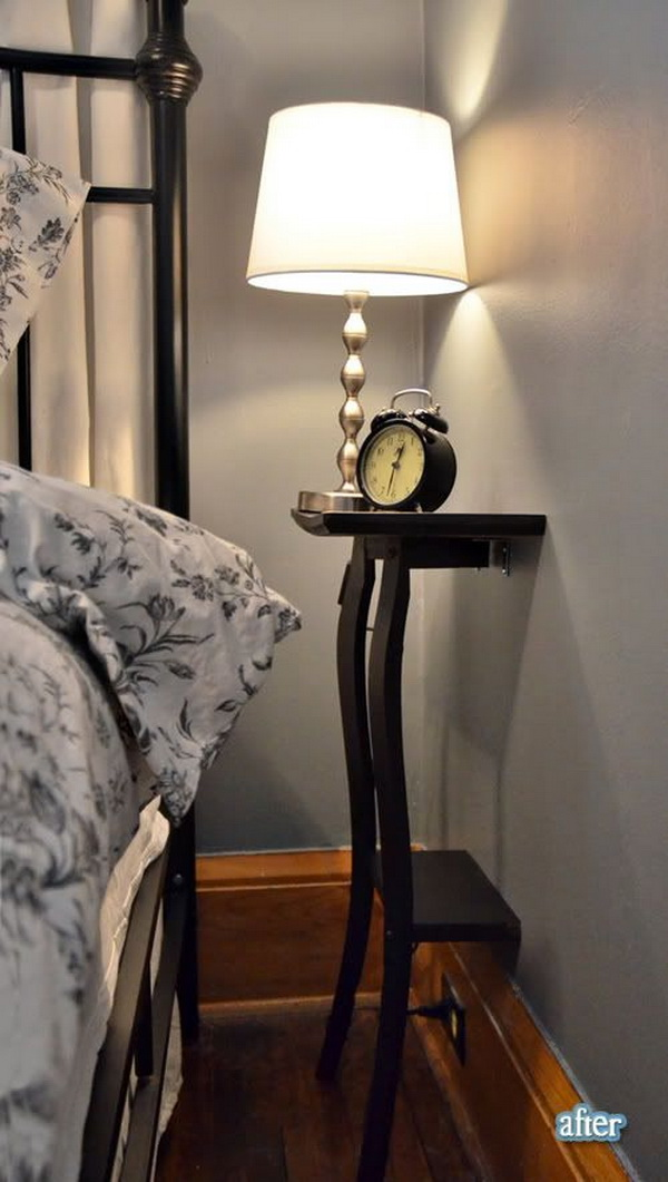 Small Bedroom Night Stand Solution .