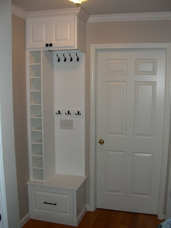 Shoe Cubbies for Small Space.