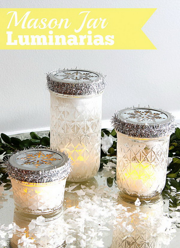 Mason Jar Christmas Luminarias.