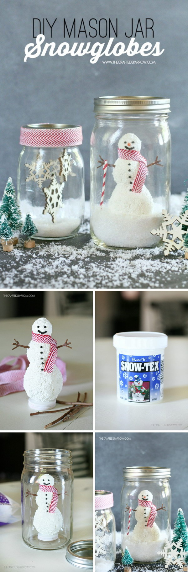 DIY Mason Jar Snowglobes.