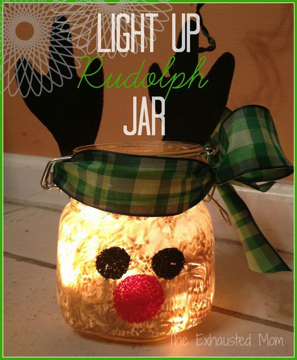 DIY Light Up Christmas Jars.