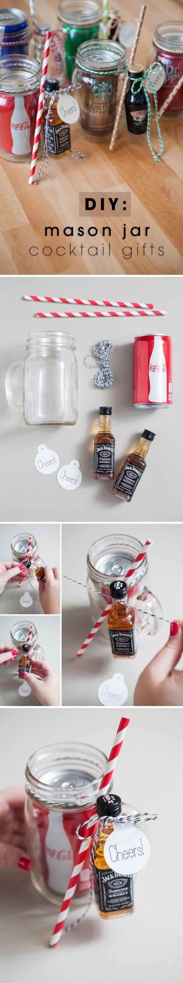 15 easy mason jar christmas decorations you can make yourself for Christmas decorations to make yourself