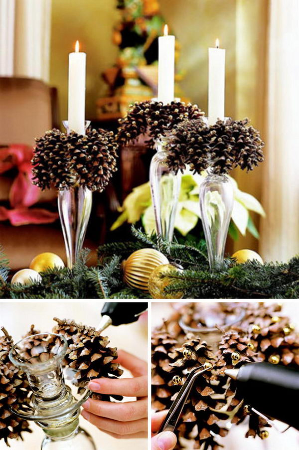 30 Festive Diy Pine Cone Decorating Ideas 2017
