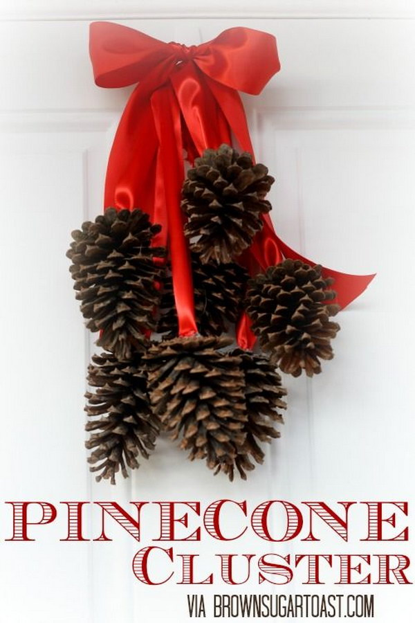 Pottery Barn Inspired Pinecone Cluster