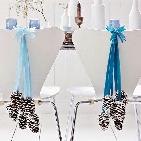 Pinecone and Ribbon Hanging Decoration