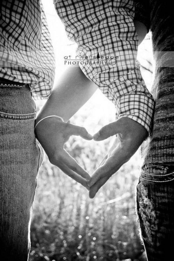 Create a Heart Shape Save the Date Photo