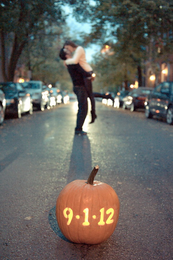 Pumpkin Save the Date Photo