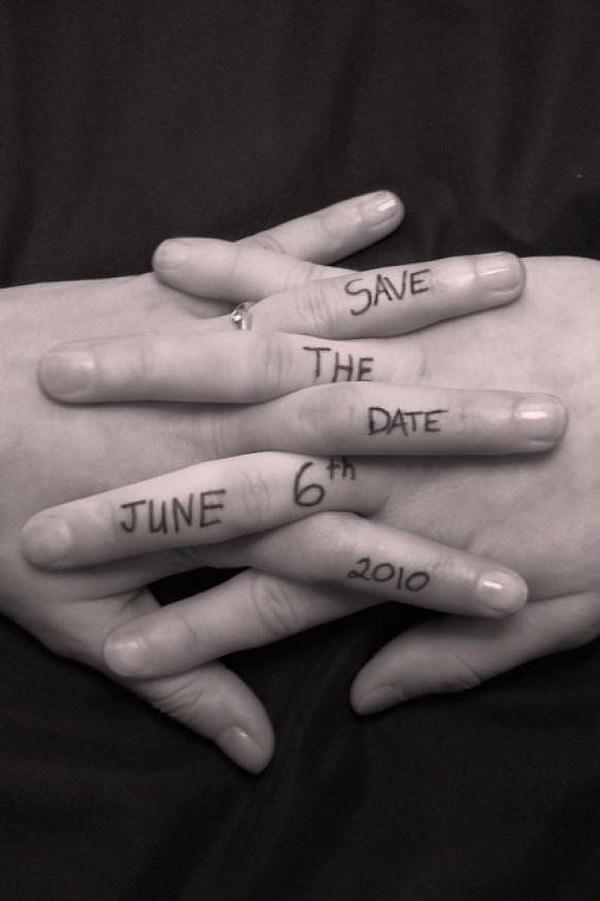 Big News on Fingers Save the Date