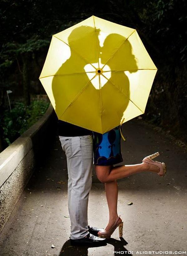 Umbrella Save the Date Photo